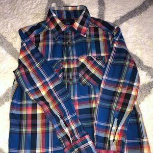 Ralph Lauren button down blue  boys shirt size 8